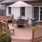 composite deck with built in benches