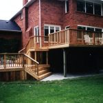 custom built cedar wood deck