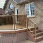 custom built deck and glass panels