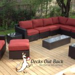 custom built wood deck