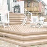custom built wood deck and bench