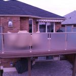 etched glass railings for backyard privacy