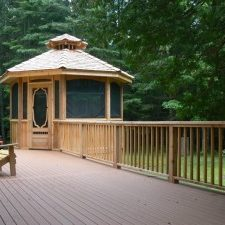 custom built gazebo with screening