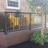 railing installation by Decks Out Back